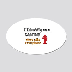 Identify as a canine 20x12 Oval Wall Decal