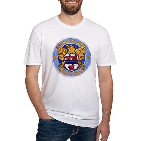 USS MILLER Fitted T-Shirt