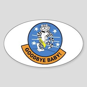 F-14 Tomcat Goodbye Oval Sticker