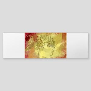 Brain Map Bumper Sticker