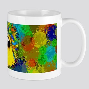Gold and Blue Macaw Parrot Fantasy Mugs