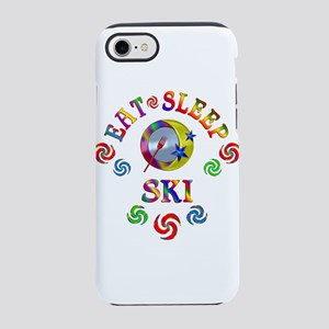 Eat Sleep Ski iPhone 7 Tough Case