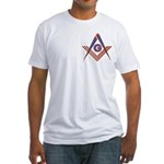 Embedded Masonic Compasses Fitted T-Shirt