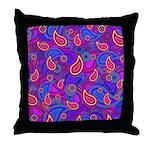 Purple Paisley Pattern Throw Pillow