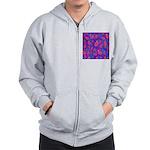 Purple Paisley Pattern Zip Hoodie