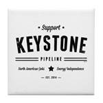 Support The Keystone Pipeline Tile Coaster