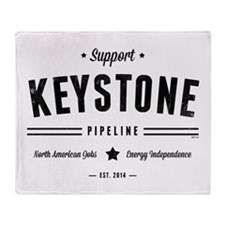 Support The Keystone Pipeline Throw Blanket