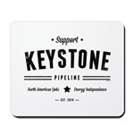 Support The Keystone Pipeline Mousepad