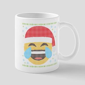 Emoji Santa LOL 11 oz Ceramic Mug