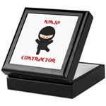 Ninja Contractor Keepsake Box