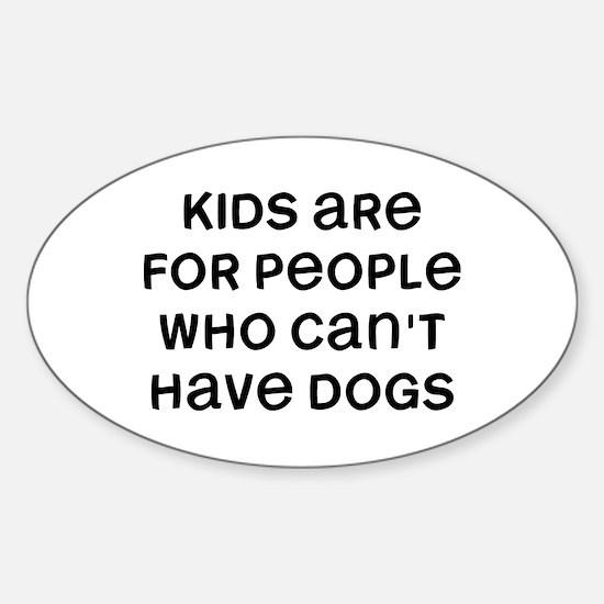 Kids Dogs Sticker (Oval)