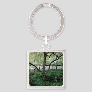 Nature's Eden Square Keychain