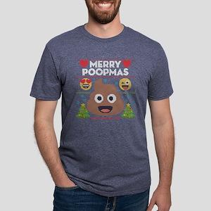 Emoji Merry Poopmas Mens Tri-blend T-Shirt