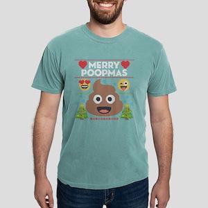 Emoji Merry Poopmas Mens Comfort Colors Shirt