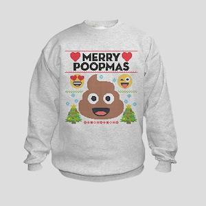 Emoji Merry Poopmas Kids Sweatshirt