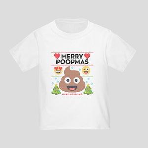 Emoji Merry Poopmas Toddler T-Shirt