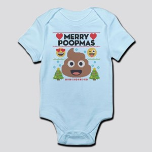 Emoji Merry Poopmas Baby Light Bodysuit