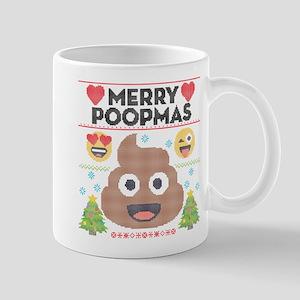 Emoji Merry Poopmas 11 oz Ceramic Mug