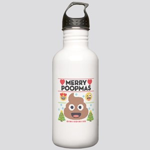 Emoji Merry Poopmas Stainless Water Bottle 1.0L