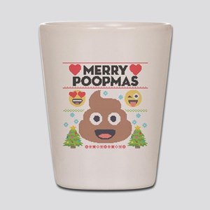 Emoji Merry Poopmas Shot Glass