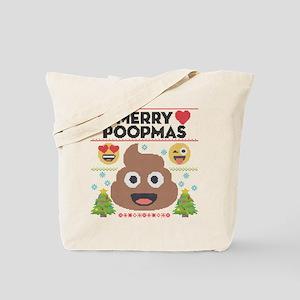 Emoji Merry Poopmas Tote Bag