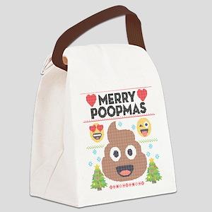 Emoji Merry Poopmas Canvas Lunch Bag