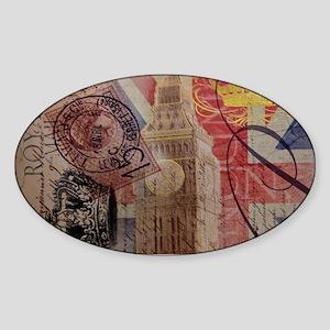 UK flag jubilee vintage decor Sticker