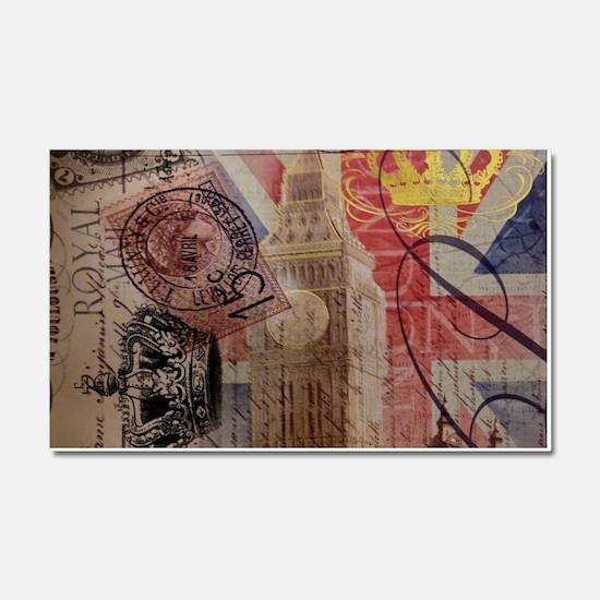 UK flag jubilee vintage decor Car Magnet 20 x 12