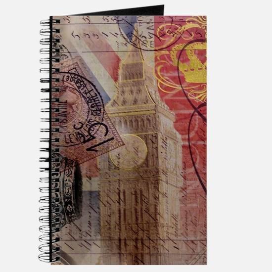 UK flag jubilee vintage decor Journal