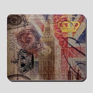 UK flag jubilee vintage decor Mousepad