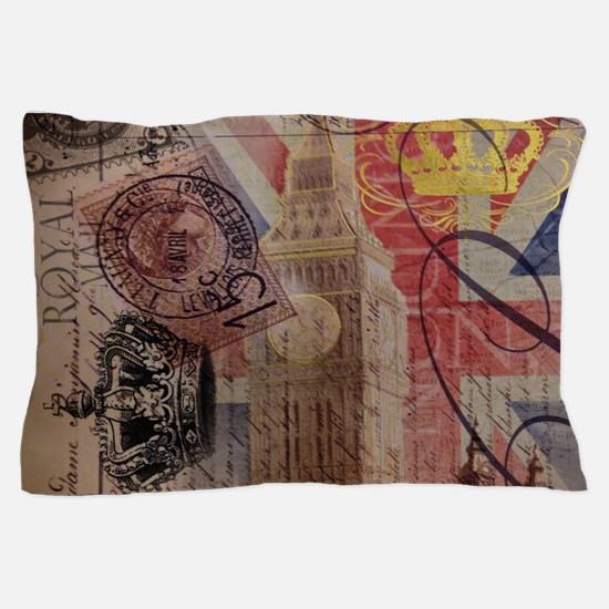 UK flag jubilee vintage decor Pillow Case
