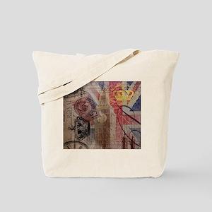 UK flag jubilee vintage decor Tote Bag