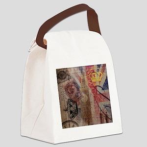 UK flag jubilee vintage decor Canvas Lunch Bag