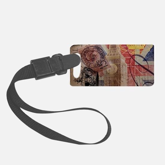 UK flag jubilee vintage decor Luggage Tag