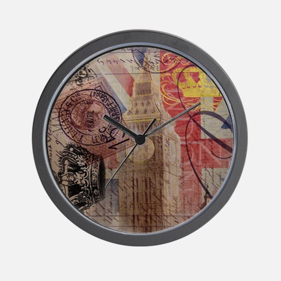 UK flag jubilee vintage decor Wall Clock