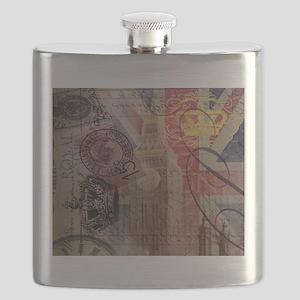 UK flag jubilee vintage decor Flask