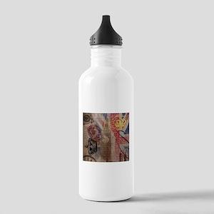 UK flag jubilee vintage decor Water Bottle