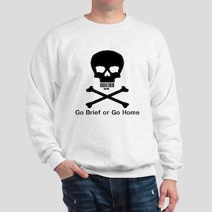 Go Brief Front Black Sweatshirt