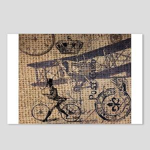 UK vintage bicycle industrial decor Postcards (Pac