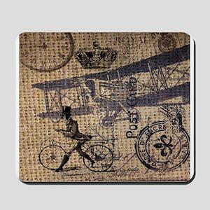 UK vintage bicycle industrial decor Mousepad