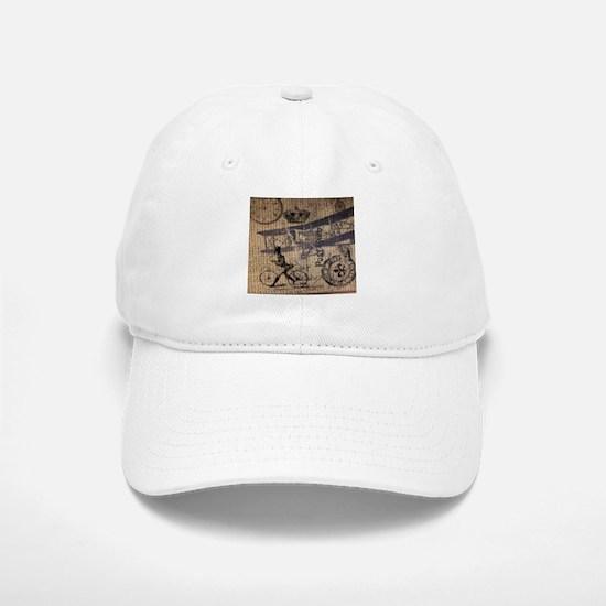 UK vintage bicycle industrial decor Hat