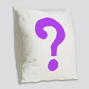 Question Everything Burlap Throw Pillow