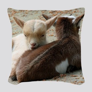 Goat 001 Woven Throw Pillow