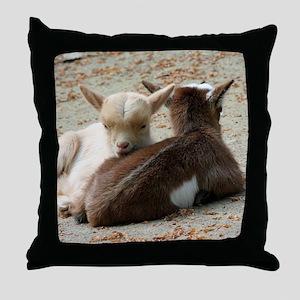 Goat 001 Throw Pillow
