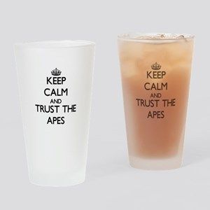 Keep calm and Trust the Apes Drinking Glass
