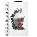Native American Indian In Headdress Journal