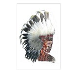 Native American Indian In Postcards (package Of 8)