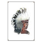 Native American Indian In Headdress Banner