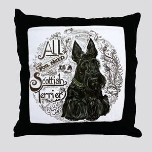 Scottie Basics Throw Pillow