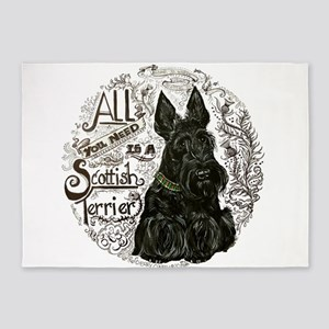 Scottie Basics 5'x7'Area Rug